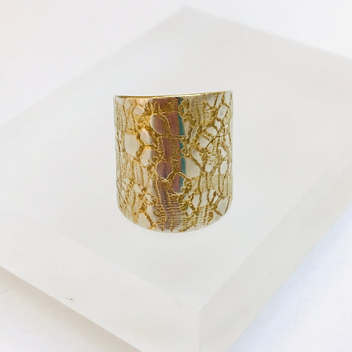 Reptile Lace Ring by Joanna Campbell