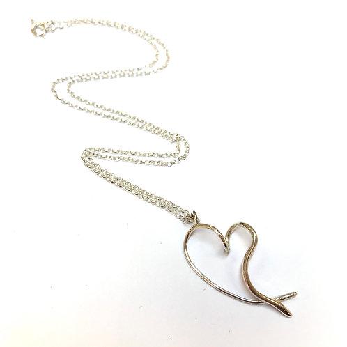 Heart Silver Necklace by Mairead De Blaca