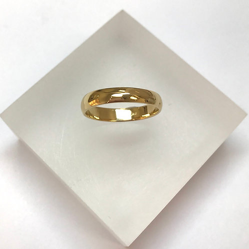9 Carat Gold Court Band Wedding Ring 4mm