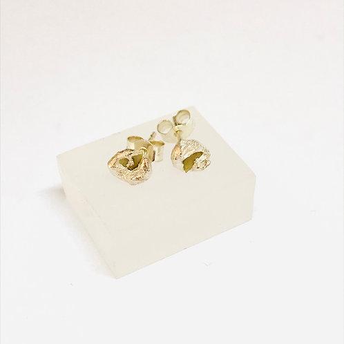 White Gold Diamond Sliver Earrings by Natalie Salisbury