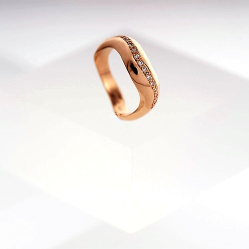 Tidal Diamond Rose Gold Ring
