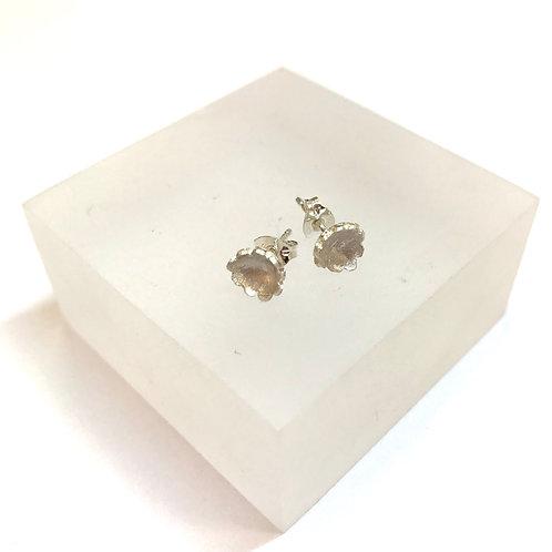 Briar Flower Medium Silver Earrings by Natalie Salisbury
