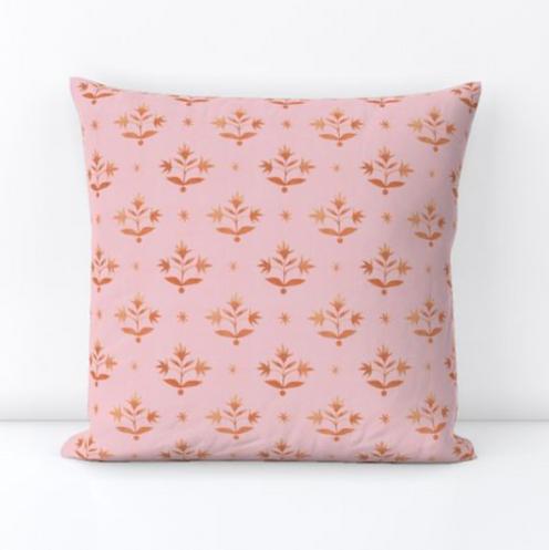 Thistle Stars Pink and Orange
