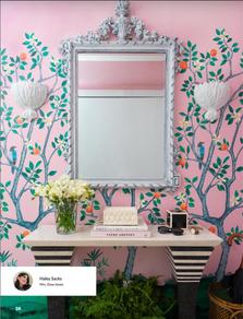 Citrus Grove Mural Panel B Pink