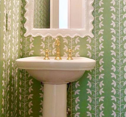 Custom Anne Berry Vines Green Textured