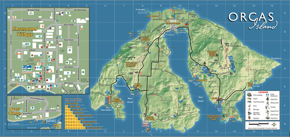 Map of Orcas Island
