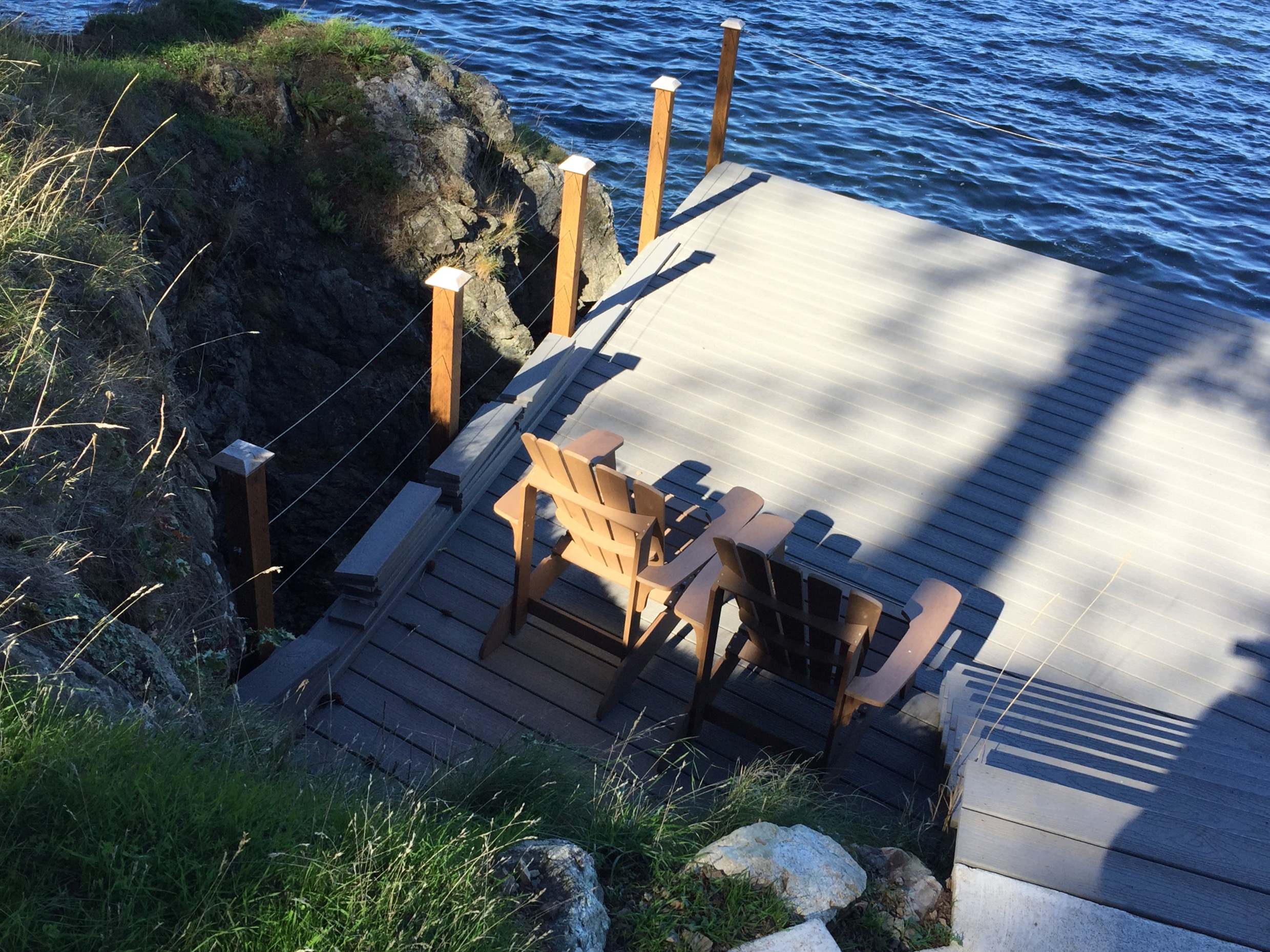 Private dock on waterfront