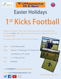 Easter Holidays 1st Kicks and Soccer School
