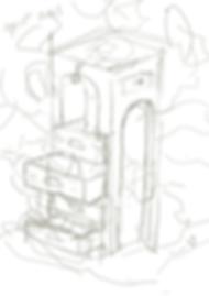 Sketch for the Hidden Gems illustration for the Factory Berlin Designer's Circle Zine