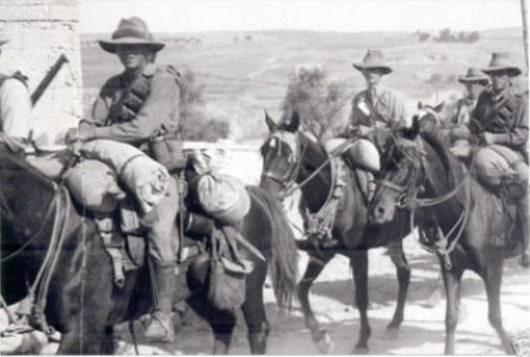 גדוד הפרשים האוסטרלי בארץ ישראל מתוך האתר של אגודת הפרשים הקלים האוסטרלים