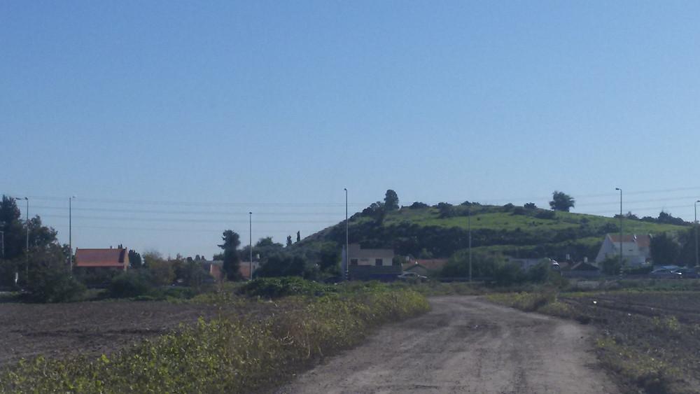 תל קטרה מבט ממערב לכיוון מזרח