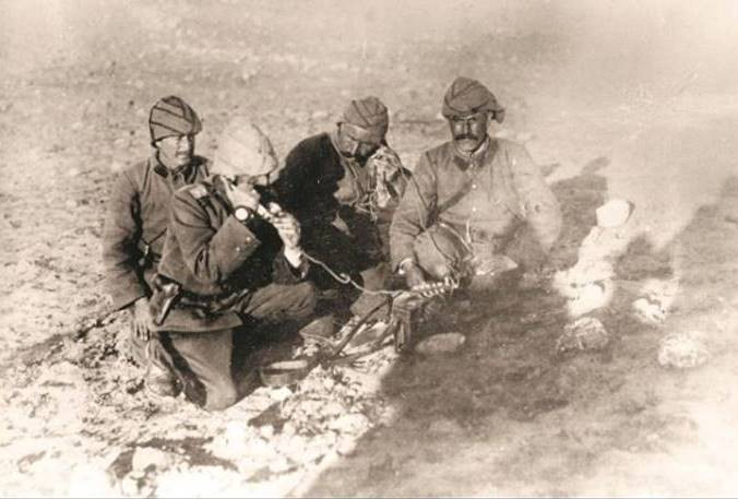 חיילים תורכים במערכה על ארץ ישראל וסיני 1917 . צילום_קורביס