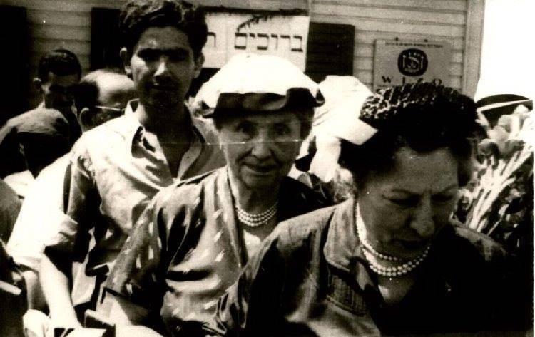 אברהם דורון עם הלן קלר ואלינור רוזוולט