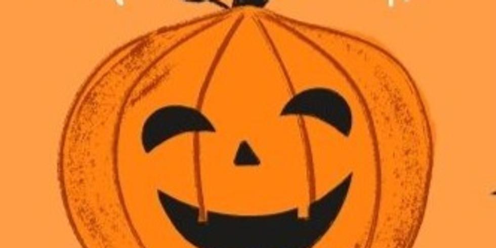 Pumpkin Painting: Kingsnympton Youth Club Tuesday