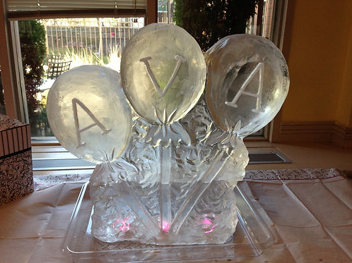 Baby shower balloons with baby name
