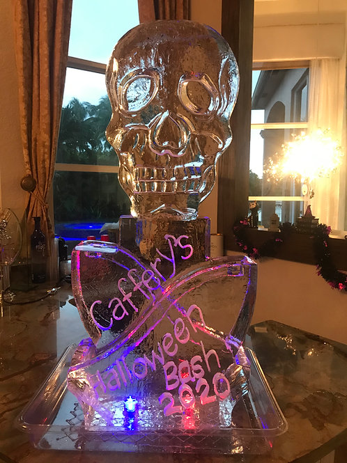 Cafferty's halloween skull with double shot luge