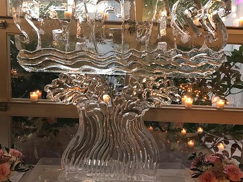 Seaglass logo on waves