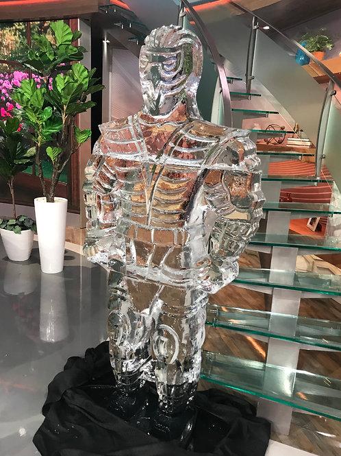 Life size Sub-Zero Ice Sculpture, the Mortal Kombat Character