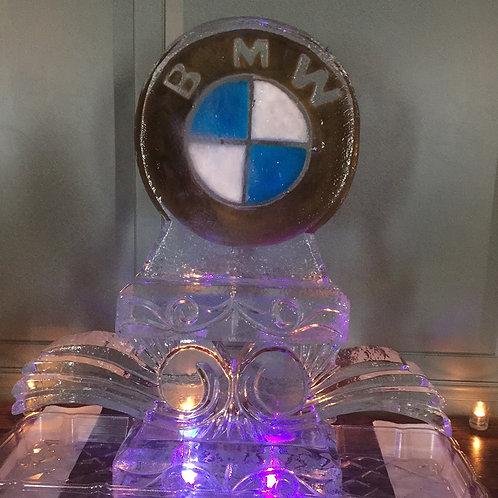 BMW (Bimmer) colored logo on decorative Pillar
