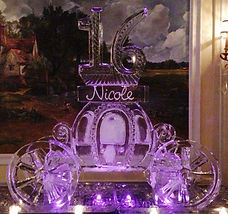Cinderella ice carriage with sixteen