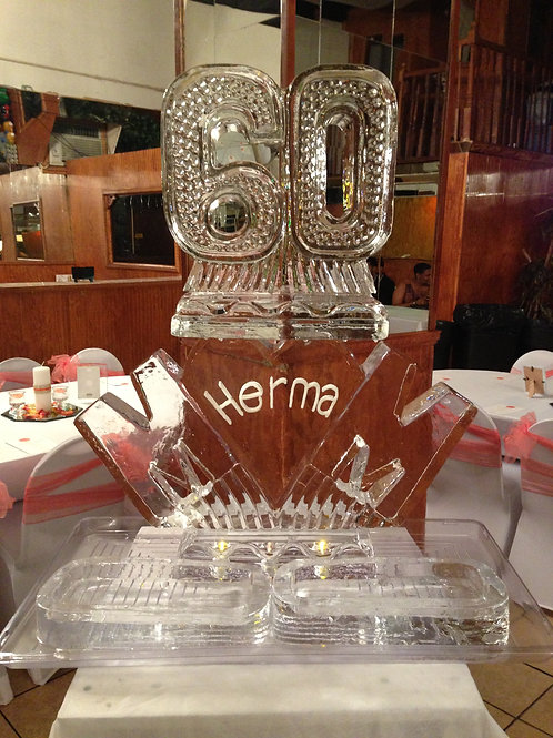 60 with MOM, name and two platters