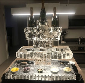 Three Tier Champagne and Caviar Station.
