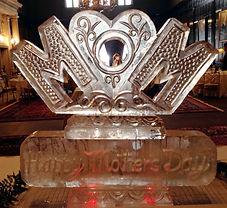 Mothers day ice sculpture