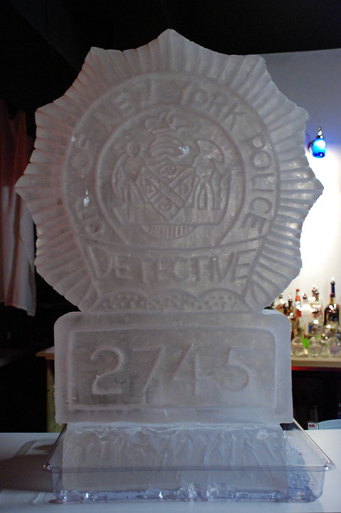 NYPD detector shield, police detective retirement party