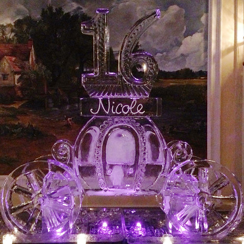 Cinderella carriage with 16 and name and no horse