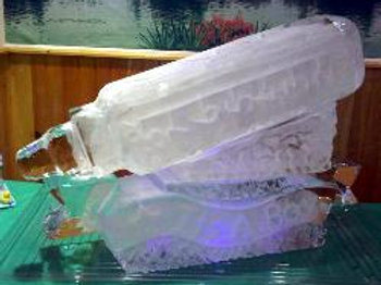 Baby Bottle Luge With Banner And Inscriptions