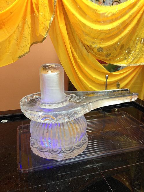Shivling Ice Sculpture Hindu