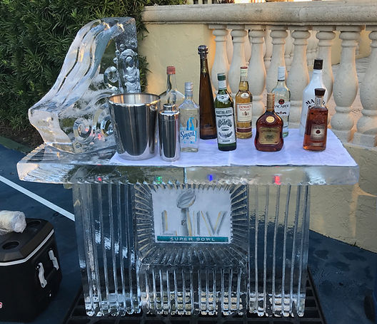4ft NFL theme ice bar with luge