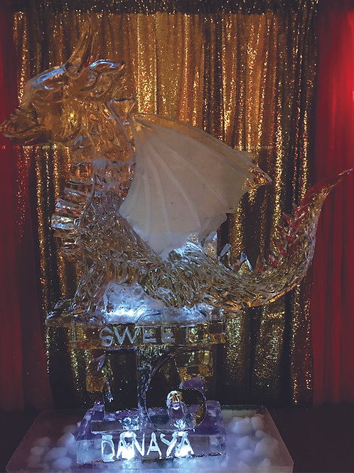 Chinese theme dragon with sweet sixteen and name