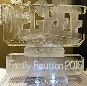 Family reunion ice sculpture