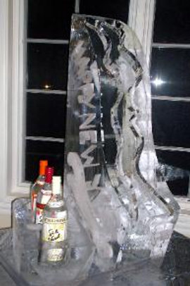 Ski jump luge with double channels bottle holders