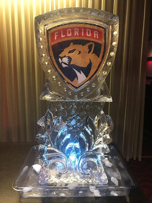 Florida Panthers Logo on Pillar