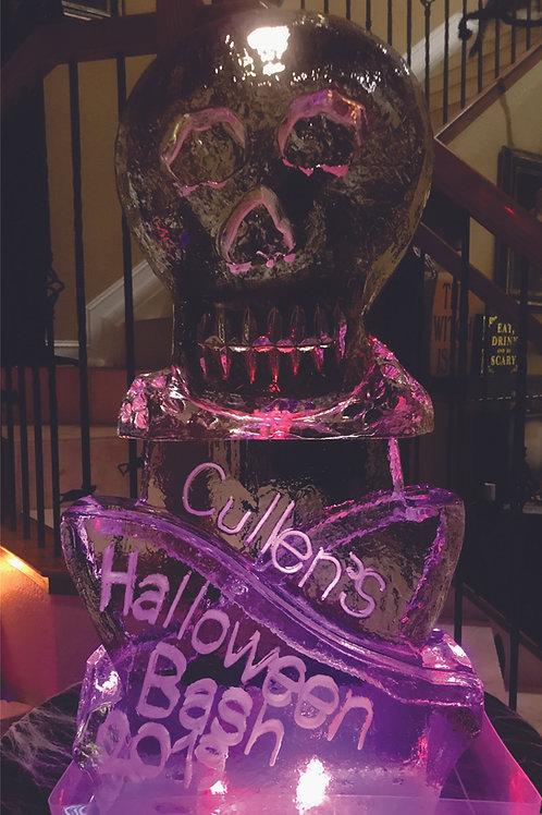 Halloween theme double ice luge with Skull