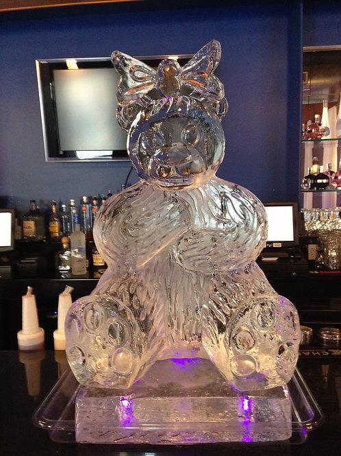 Teddy bear with bow on head