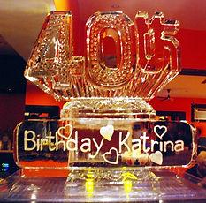 40th birthday ice sculpture