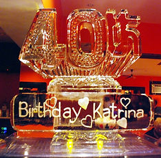40th birthday ice sculpture