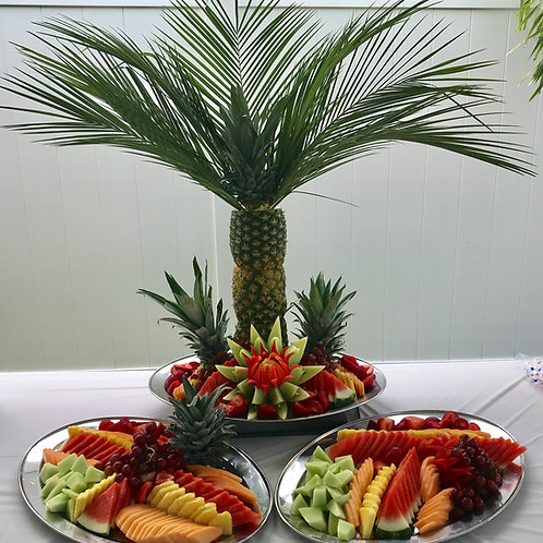 Fruit Palm with Assorted Fruit Platters