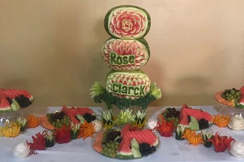 Rose & Clarck Fruit Table Display