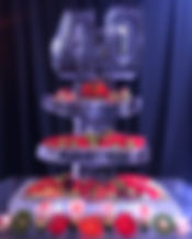 Three tier ice platters with 40 and frui