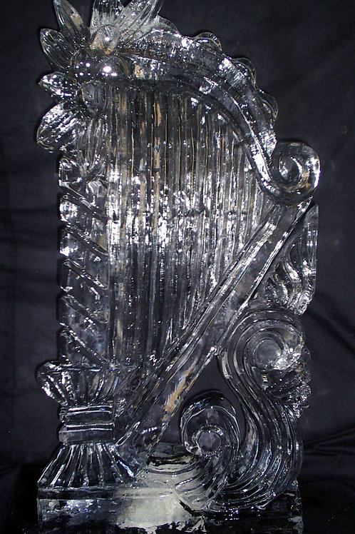 Harp ice sculpture