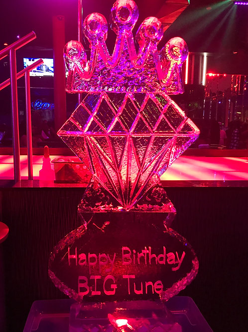 King Crown with Diamond, Oval and Happy Birthday BIG Tune