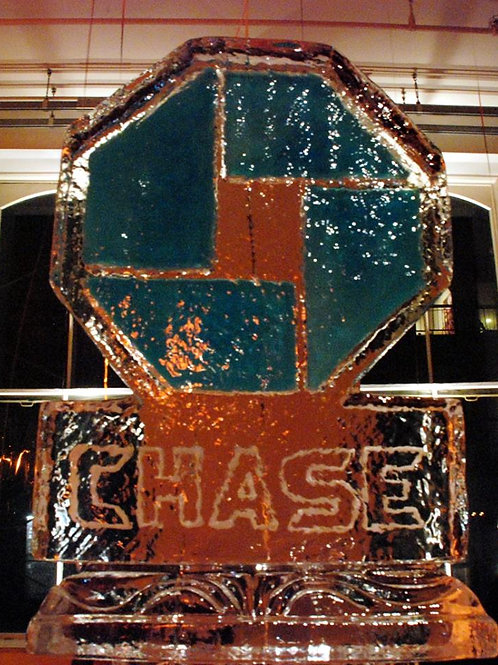 Chase Bank Logo on Decorative Pillar