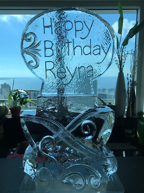 Double shot luge with happy birthday Reyna