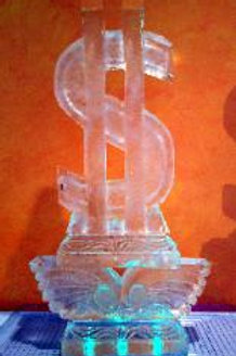The dollar sign on a decorative pillar