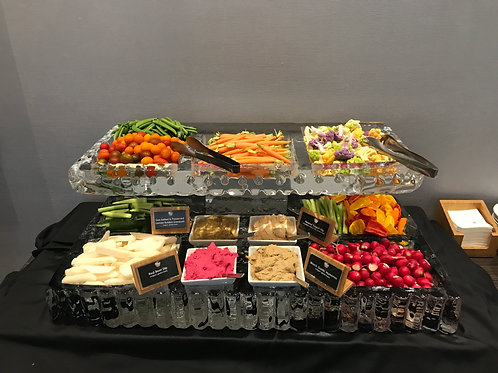 Two Tier Ice Platters with Vegetable Crudites