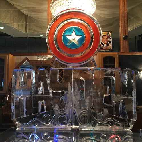 Captain America logo with Name